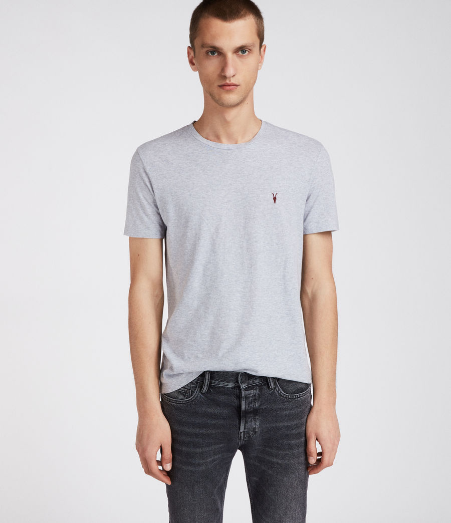 Men's Cradle Crew T-Shirt (grey_marl) - Image 1