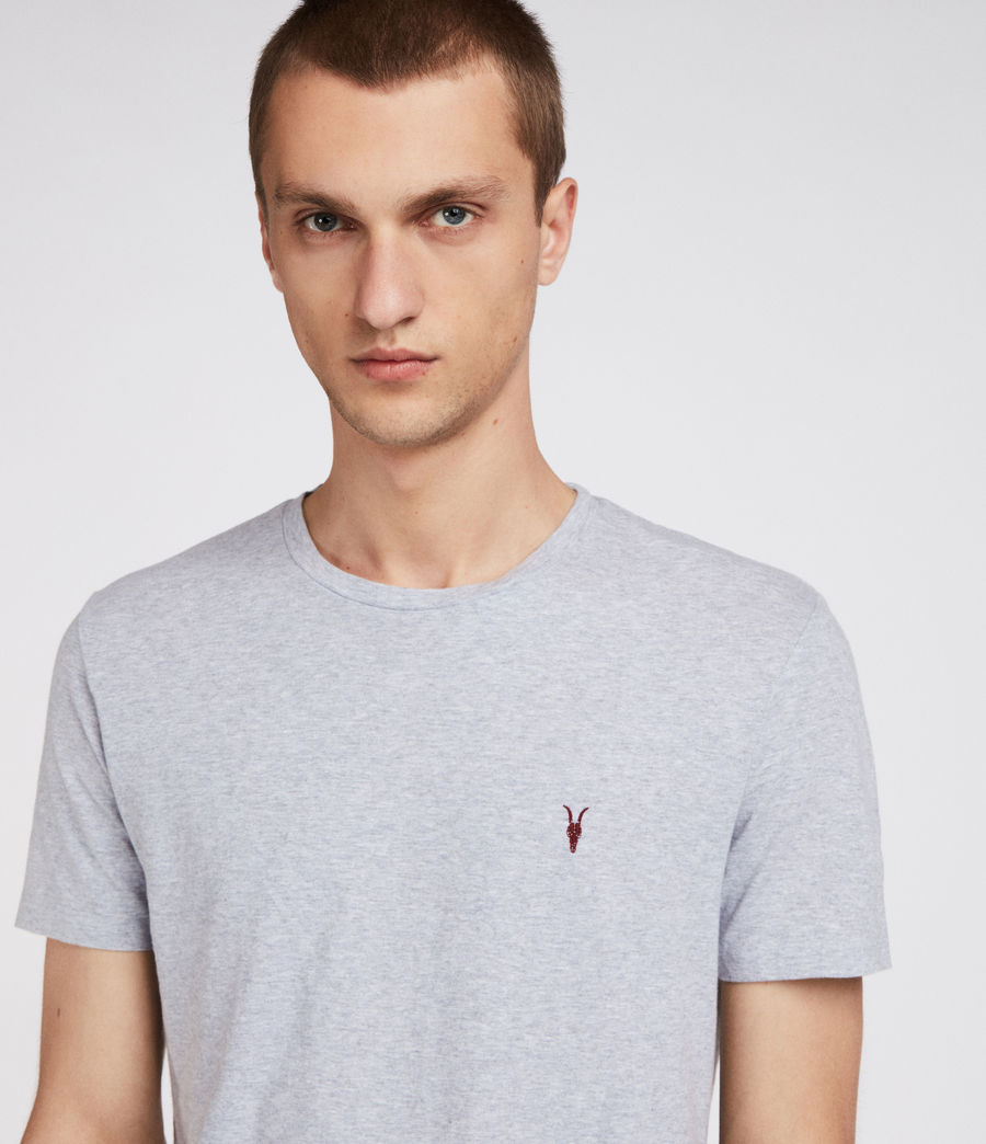 Men's Cradle Crew T-Shirt (grey_marl) - Image 2
