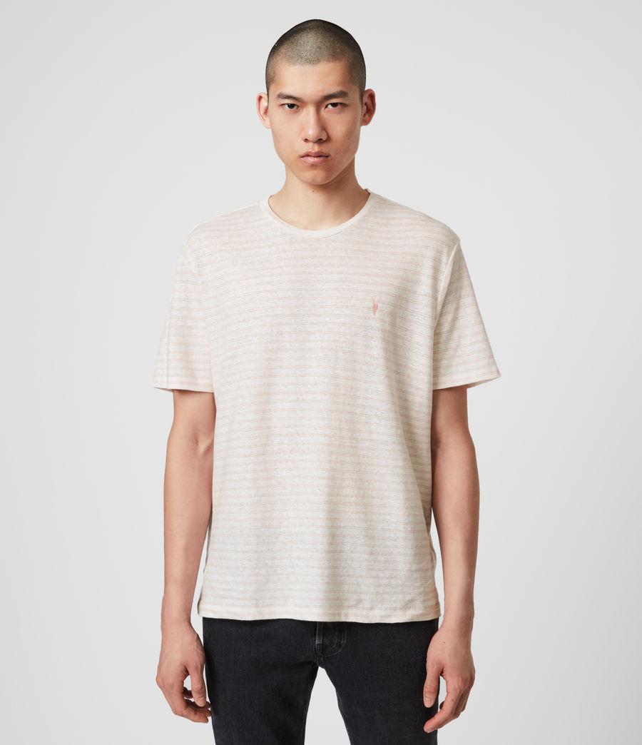 Hombres Camiseta de Algodón y Lino Nepenthe (chalk_white_pink) - Image 1