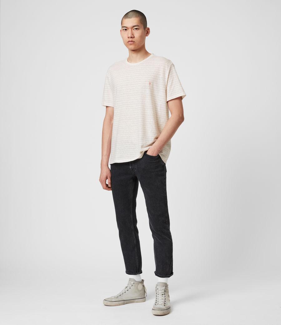 Hombres Camiseta de Algodón y Lino Nepenthe (chalk_white_pink) - Image 3