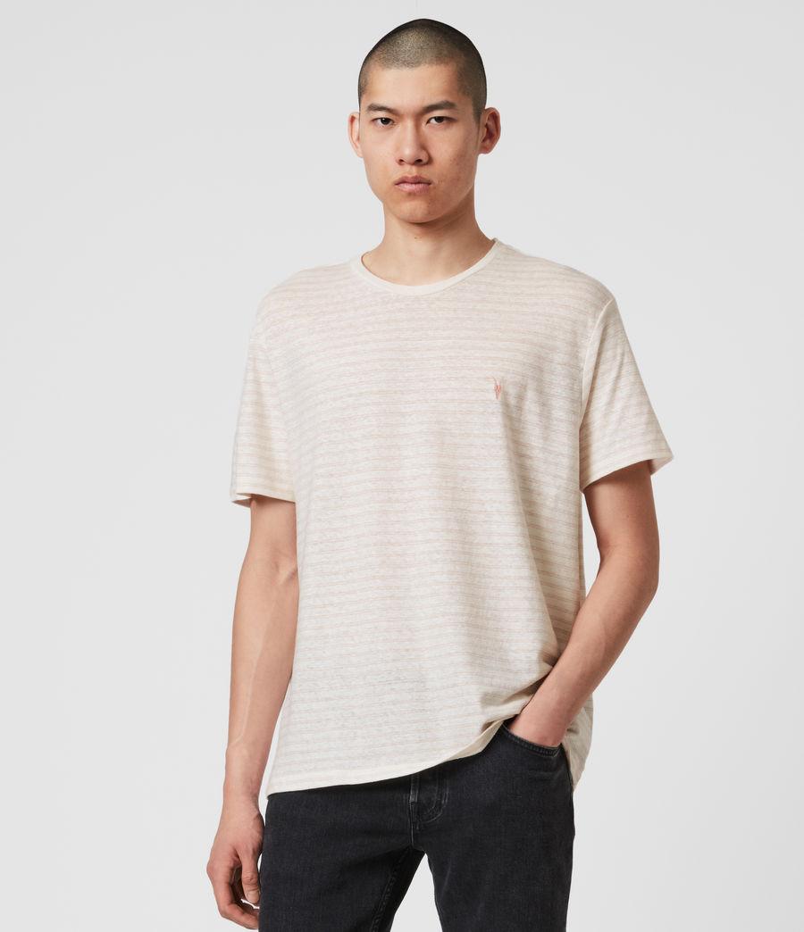 Hombres Camiseta de Algodón y Lino Nepenthe (chalk_white_pink) - Image 4