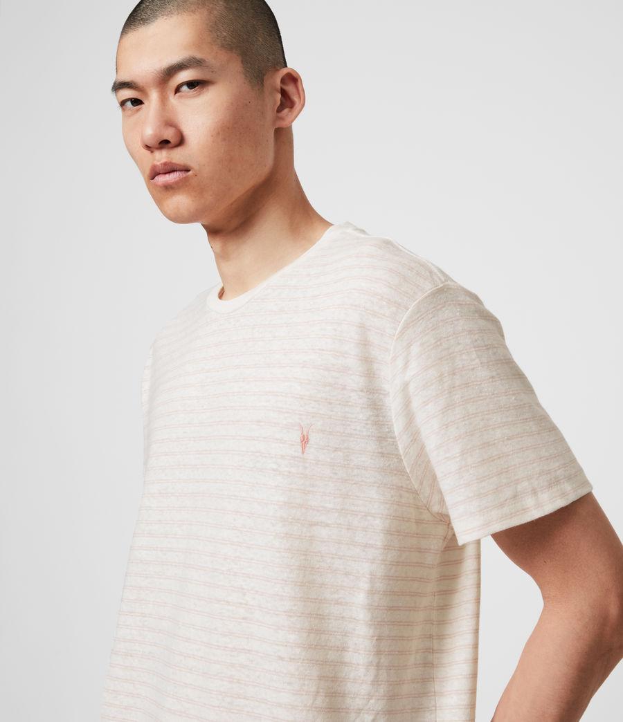 Hombres Camiseta de Algodón y Lino Nepenthe (chalk_white_pink) - Image 5