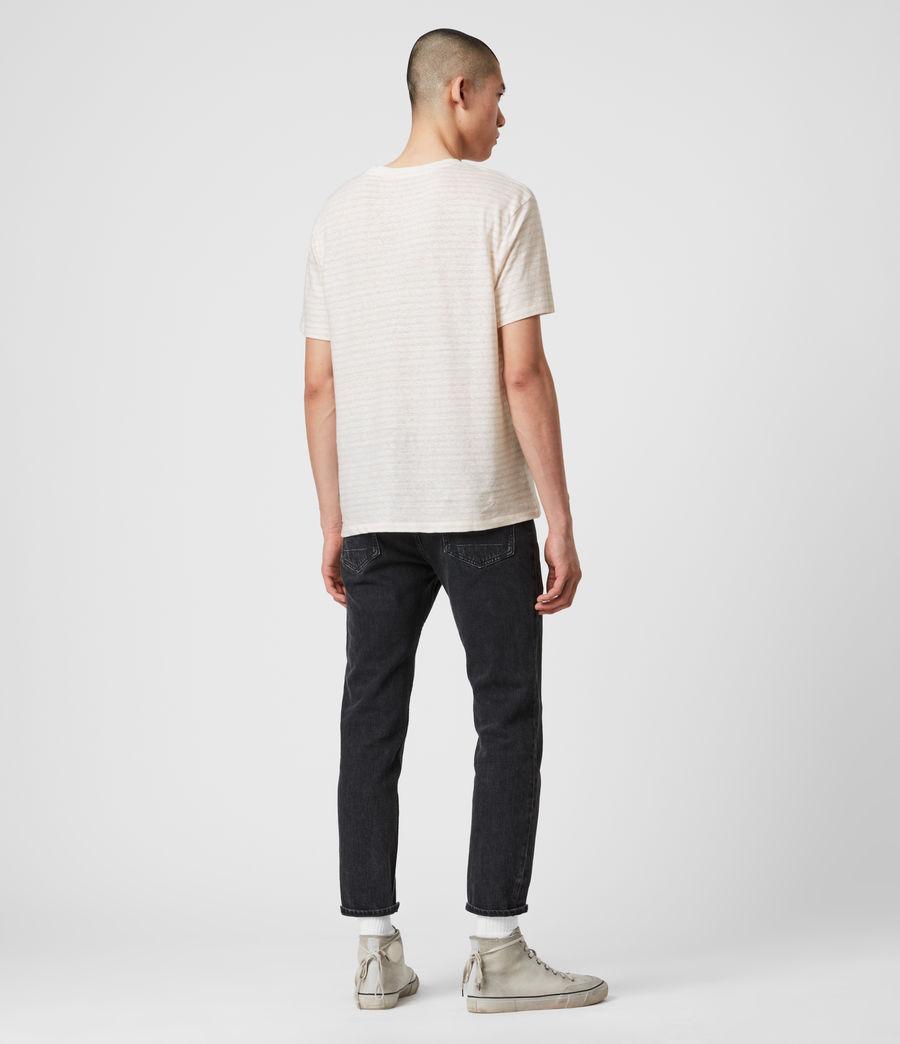 Hombres Camiseta de Algodón y Lino Nepenthe (chalk_white_pink) - Image 6