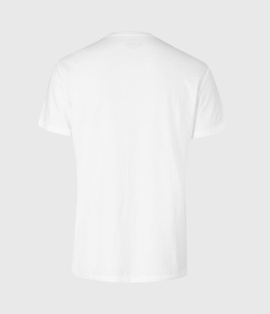 Mens Element Crew T-Shirt (optic_white) - Image 3
