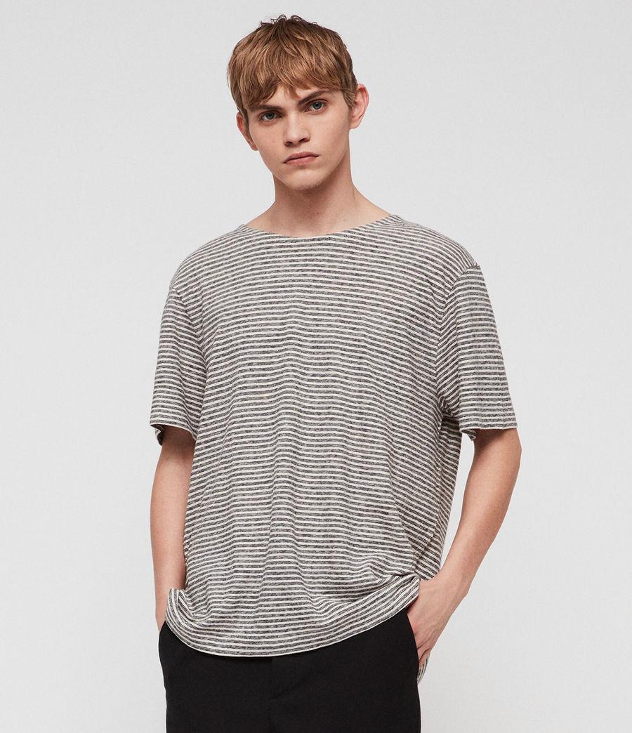 Herren Sine Short Sleeve Crew T-Shirt (ecru_ink_navy) - Image 1
