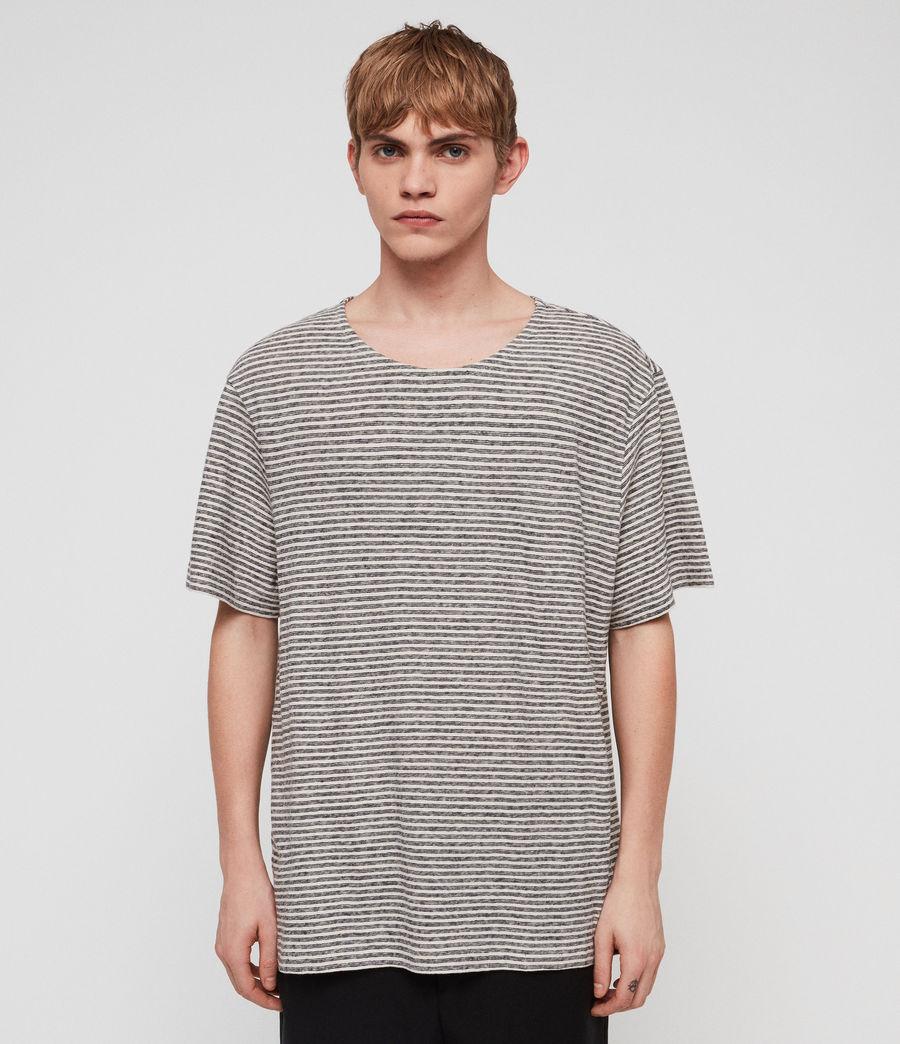 Herren Sine Short Sleeve Crew T-Shirt (ecru_ink_navy) - Image 4