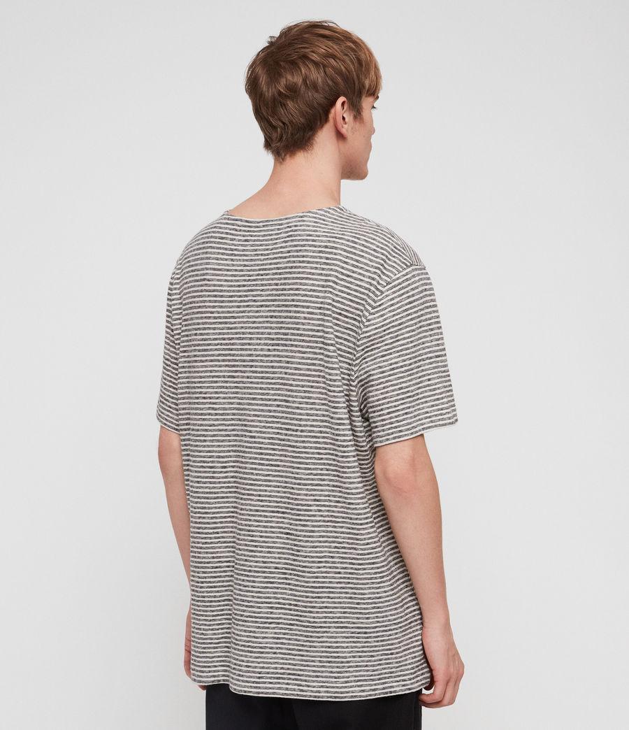 Herren Sine Short Sleeve Crew T-Shirt (ecru_ink_navy) - Image 5