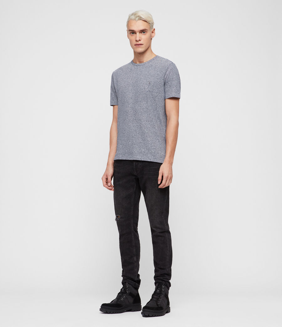 Uomo T-shirt Tonic Lupa (white_blue) - Image 3