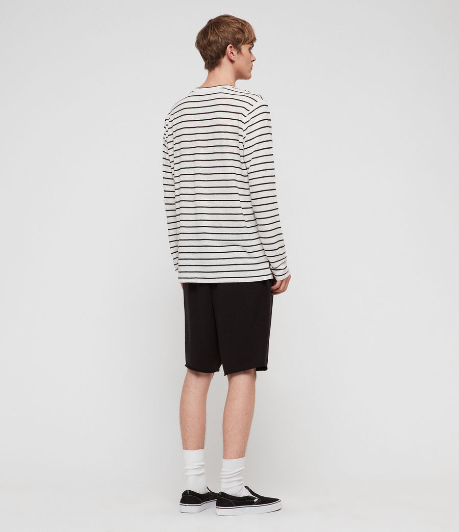 Uomo T-shirt Ludo Stripe (white_black) - Image 5