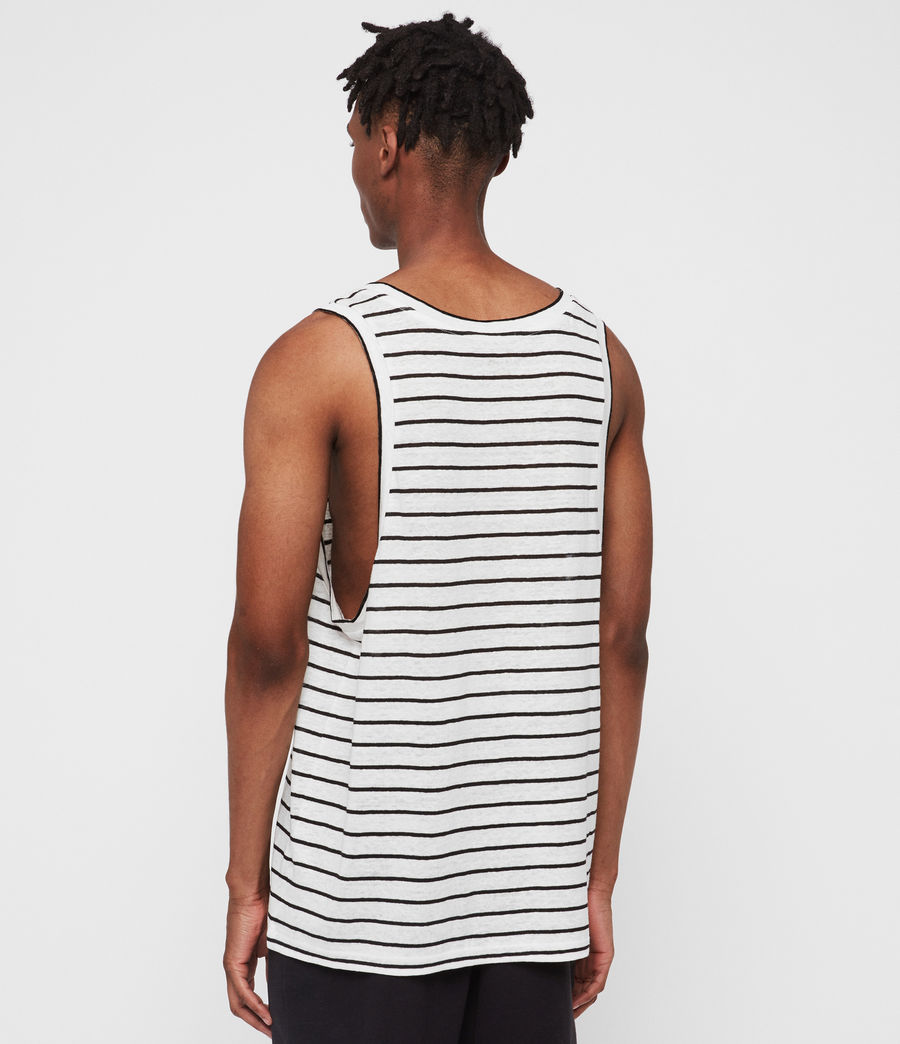 Men's Ludo Stripe Vest (white_black) - Image 4