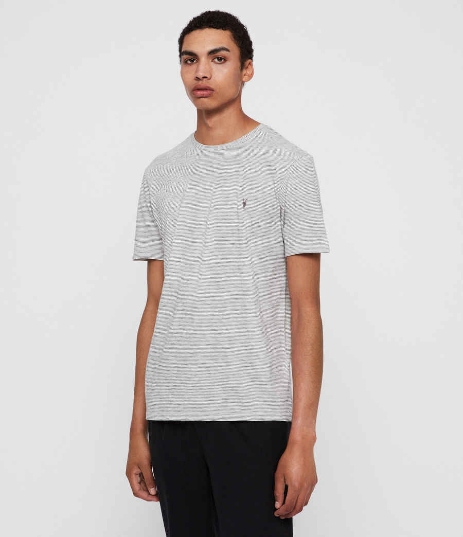 Mens Tonic Cohen Crew T-Shirt (chalk_black) - Image 2