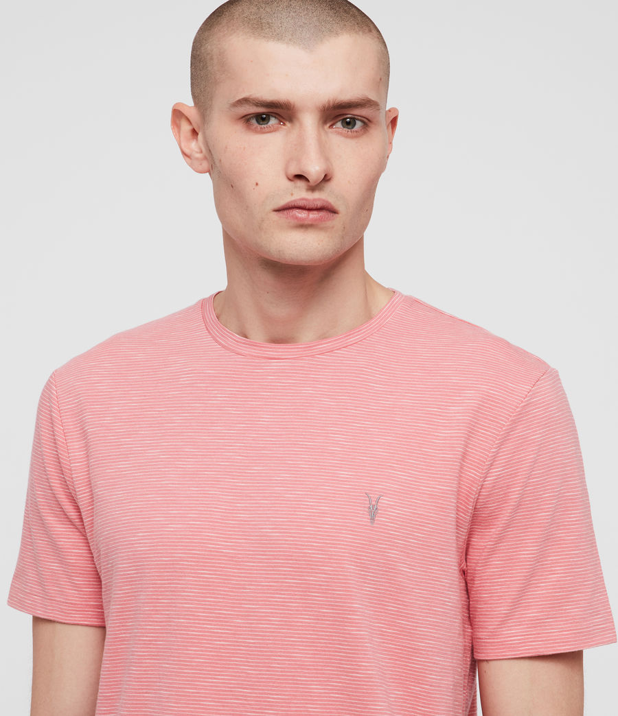 Mens Tonic Cohen Crew T-Shirt (sorbet_pink_white) - Image 2