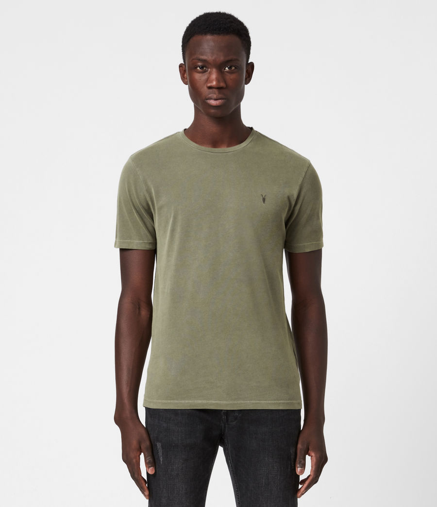 Mens Ossage Crew T-Shirt (wild_olive_green) - Image 1