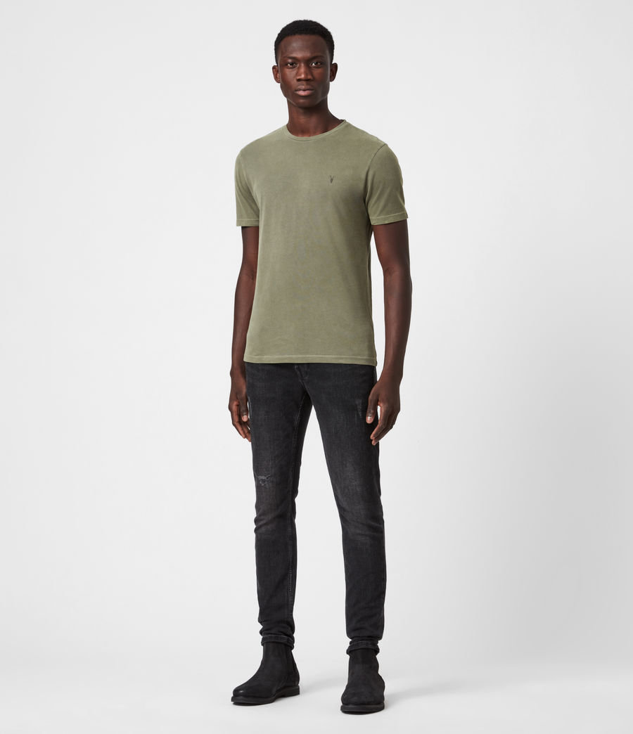 Mens Ossage Crew T-Shirt (wild_olive_green) - Image 4