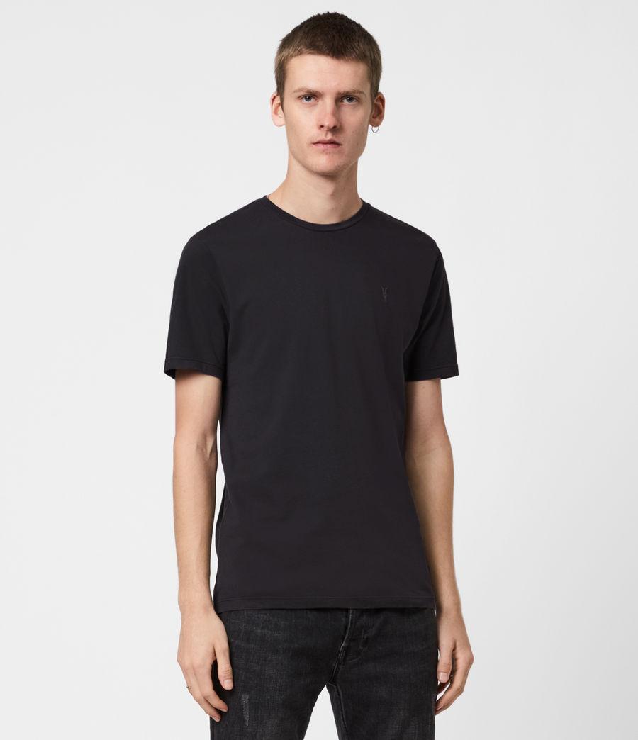 Men's Ossage Crew T-Shirt (soot_black_marl) - Image 1