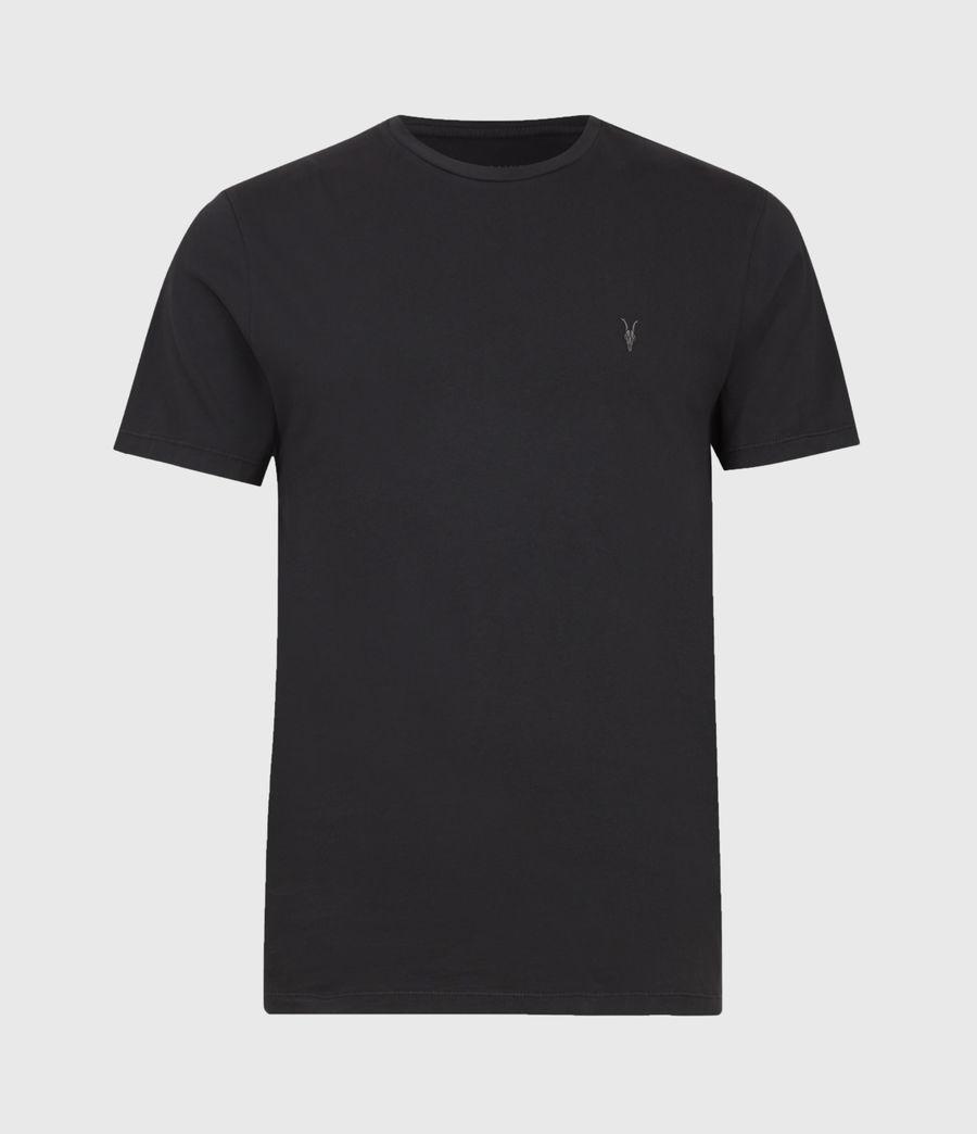 Men's Ossage Crew T-Shirt (soot_black_marl) - Image 2