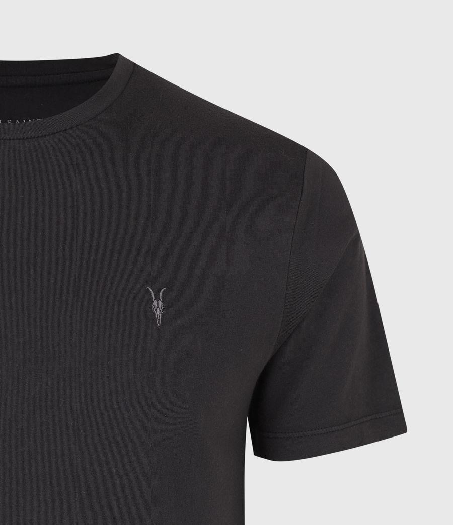 Men's Ossage Crew T-Shirt (soot_black_marl) - Image 4