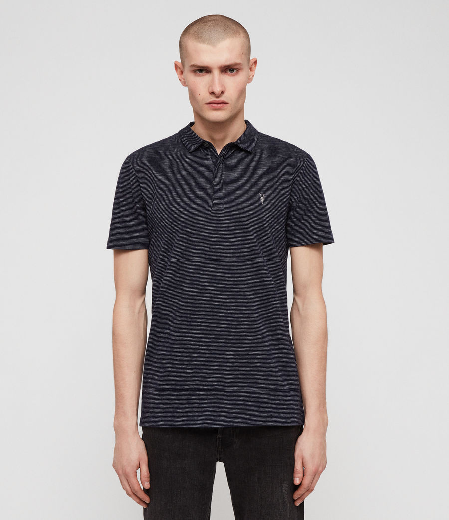 Men's Cohen Short Sleeve Polo Shirt (ink_navy_white) - Image 1