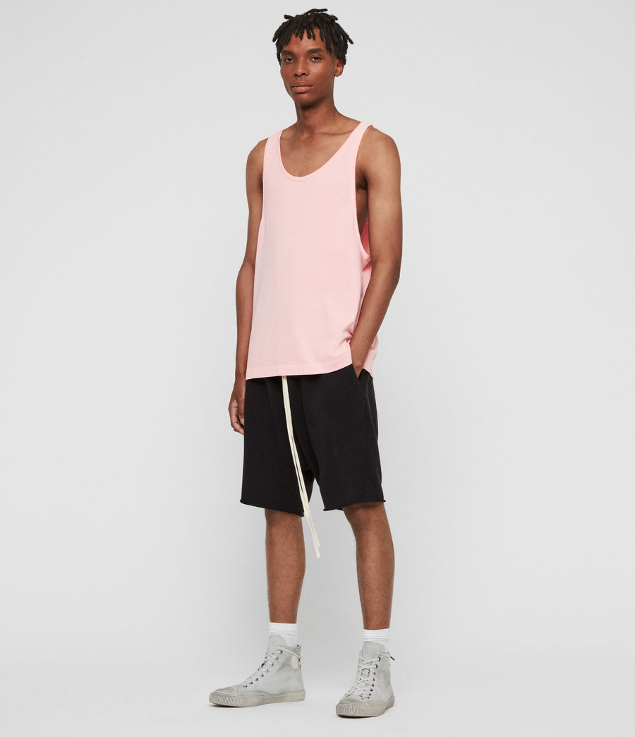 Hombres Camiseta de Tirantes Lambert (neon_coral_pink) - Image 2