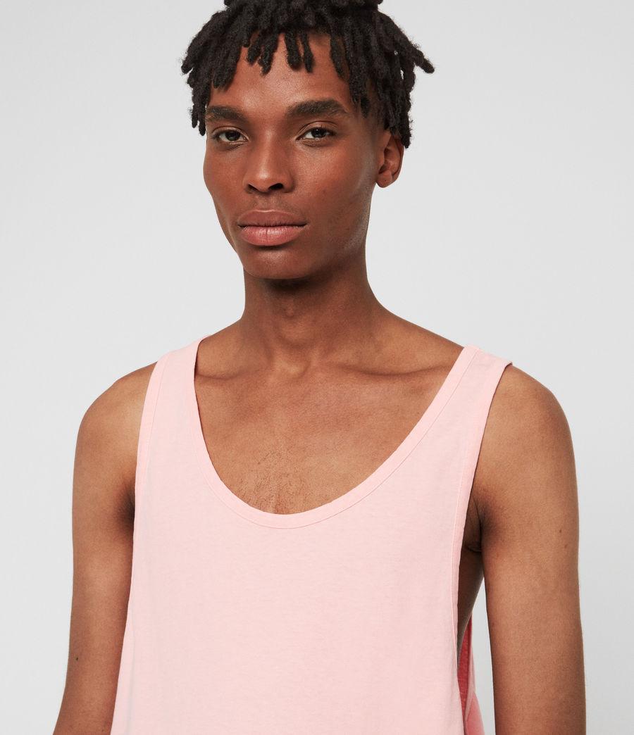 Hombres Camiseta de Tirantes Lambert (neon_coral_pink) - Image 3