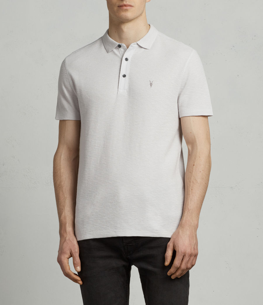 Hommes Polo Clash (light_grey) - Image 1