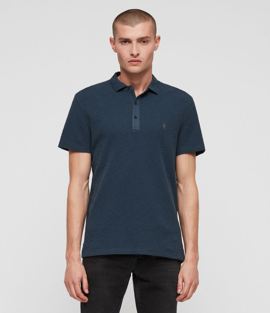 Hombres Clash Polo Shirt (pacific_blue) - Image 1
