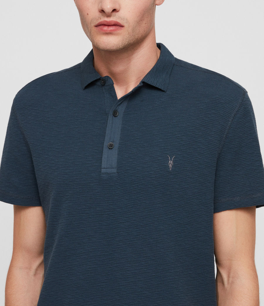 Hombres Clash Polo Shirt (pacific_blue) - Image 2