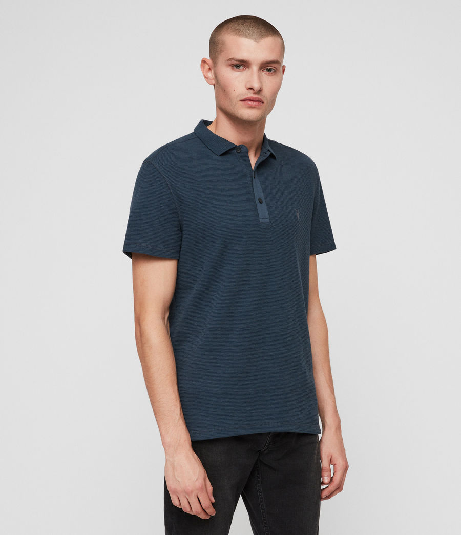Hombres Clash Polo Shirt (pacific_blue) - Image 4