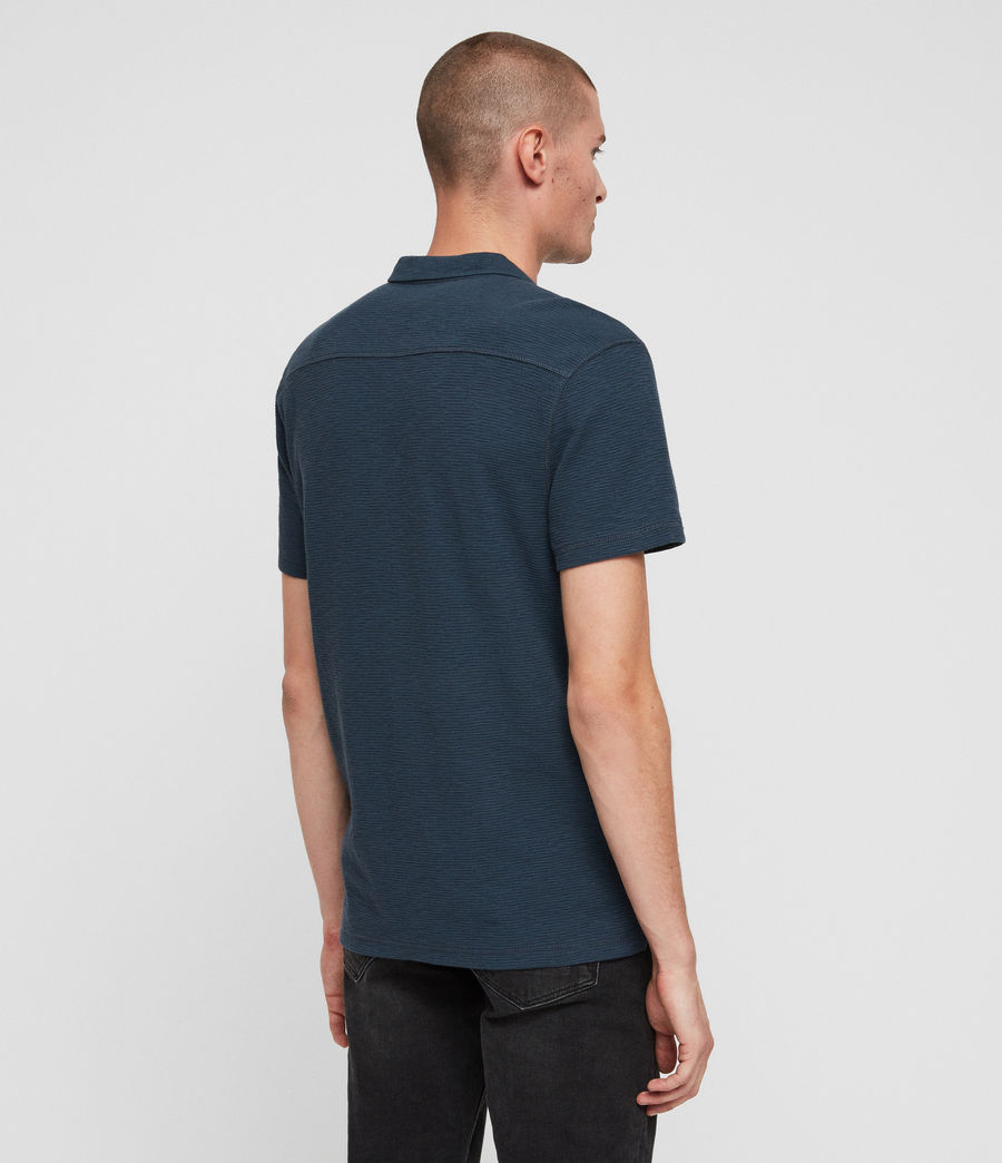 Hombres Clash Polo Shirt (pacific_blue) - Image 5