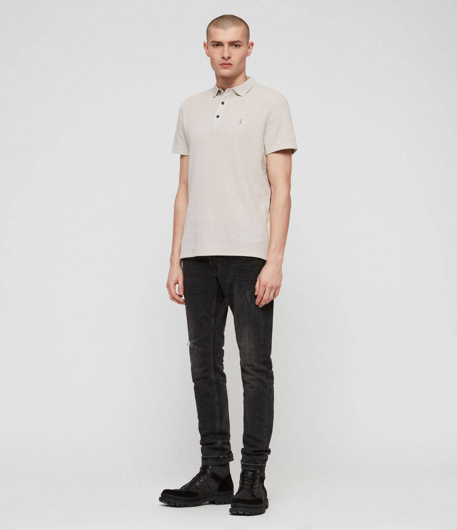 Men's Clash Polo Shirt (lunar_grey) - Image 3