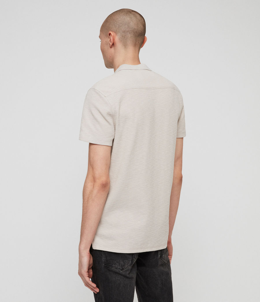 Men's Clash Polo Shirt (lunar_grey) - Image 4