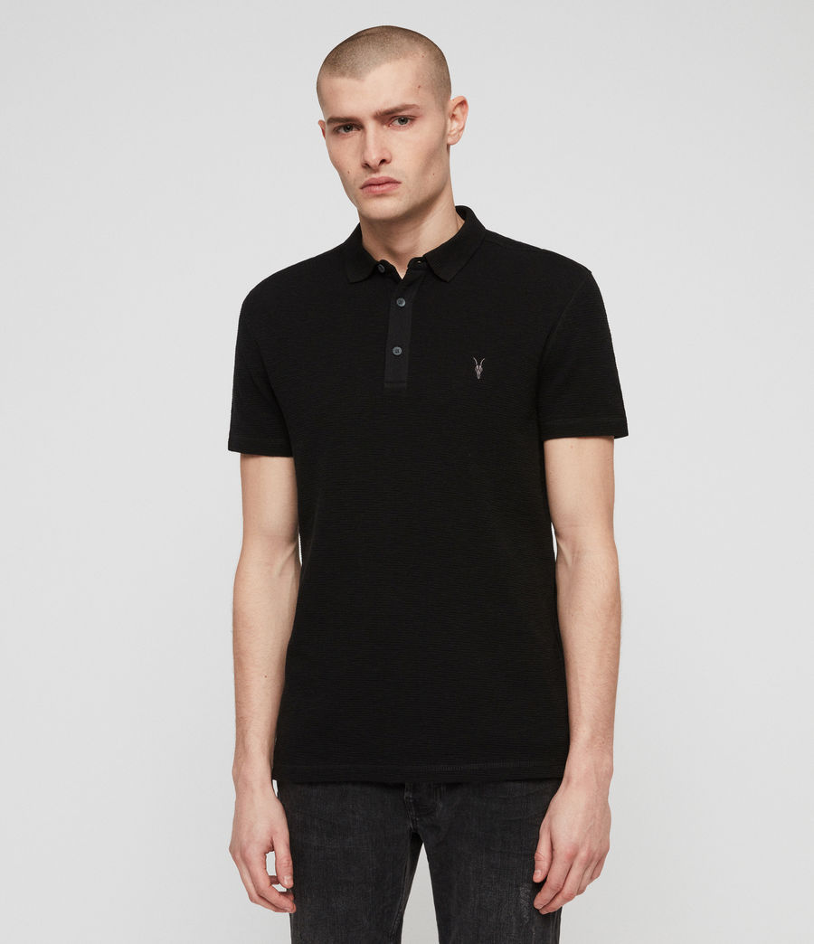 Men's Clash Polo Shirt (black) - Image 1