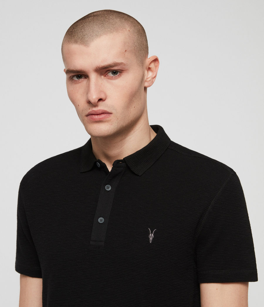Men's Clash Polo Shirt (black) - Image 2