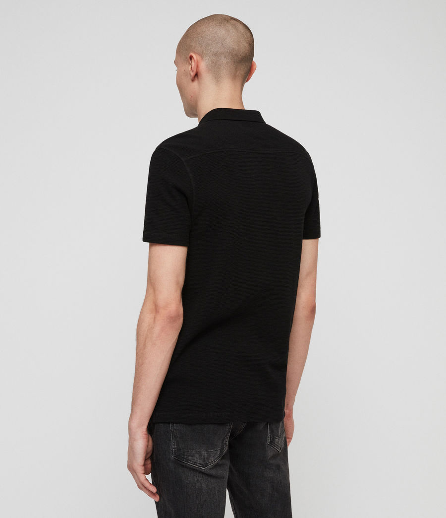 Men's Clash Polo Shirt (black) - Image 4