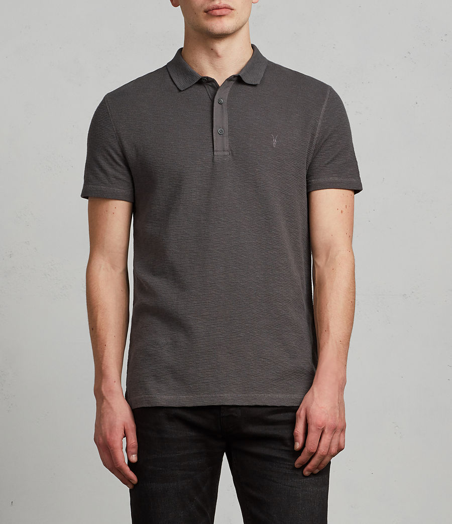 Men's Clash Polo Shirt (heath_grey) - Image 1