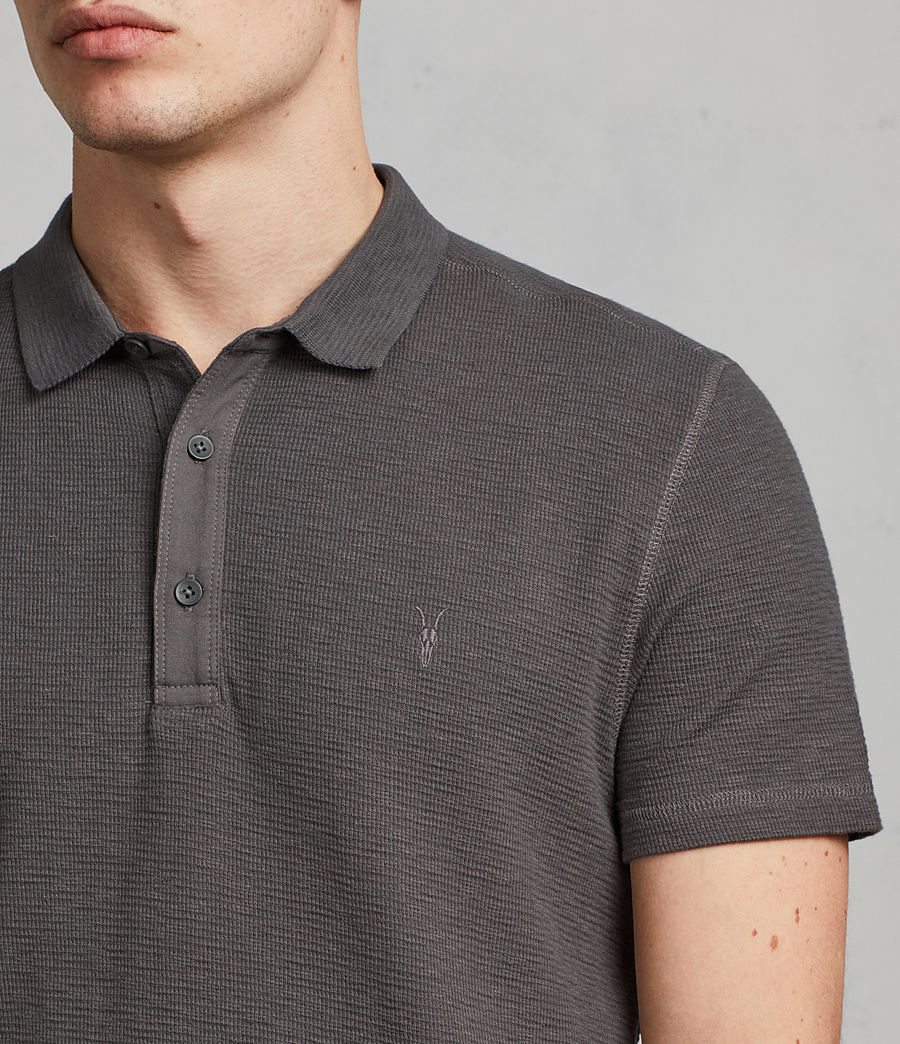 Men's Clash Polo Shirt (heath_grey) - Image 2