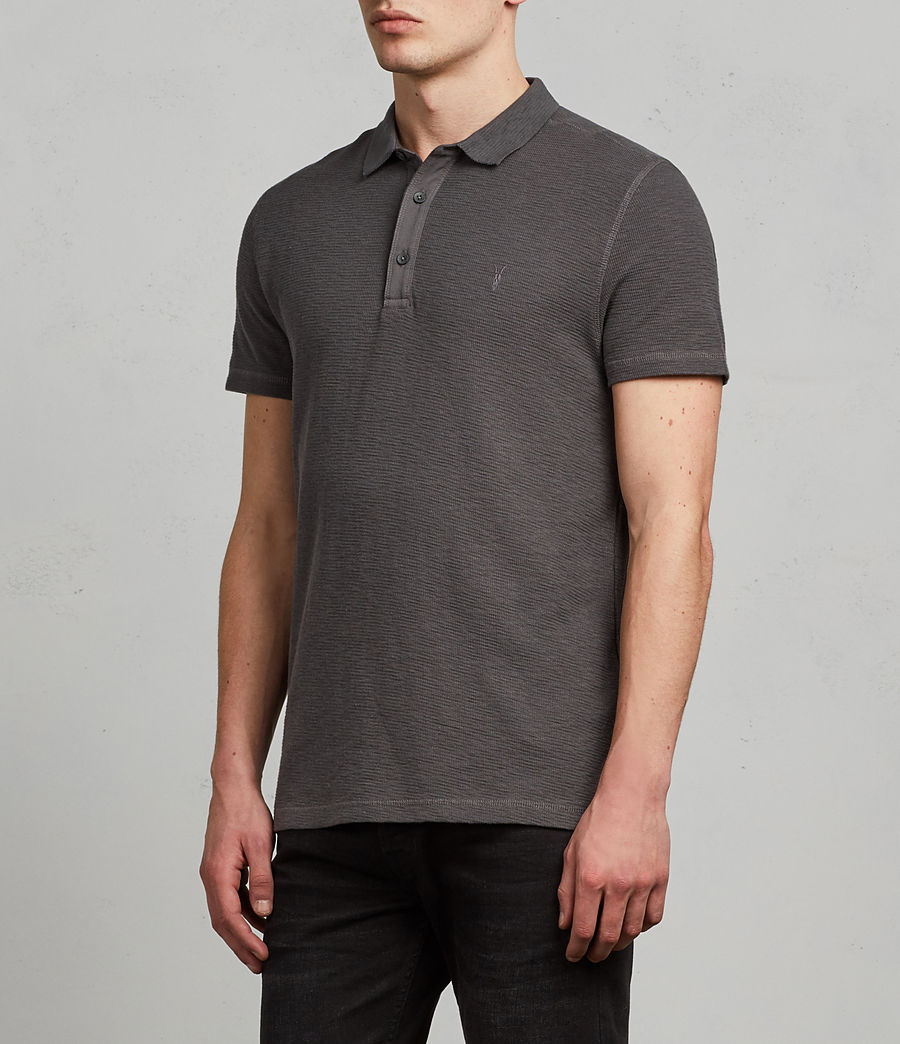 Men's Clash Polo Shirt (heath_grey) - Image 3