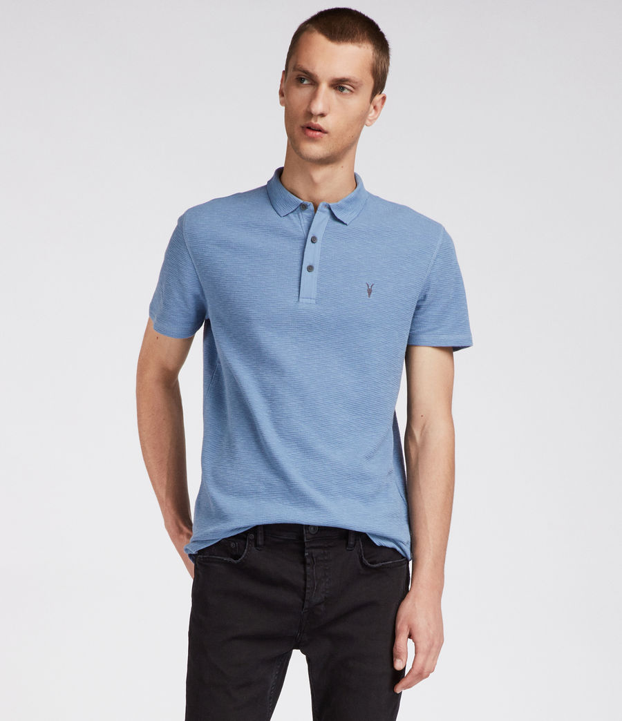 Men's Clash Polo Shirt (rain_blue) - Image 1