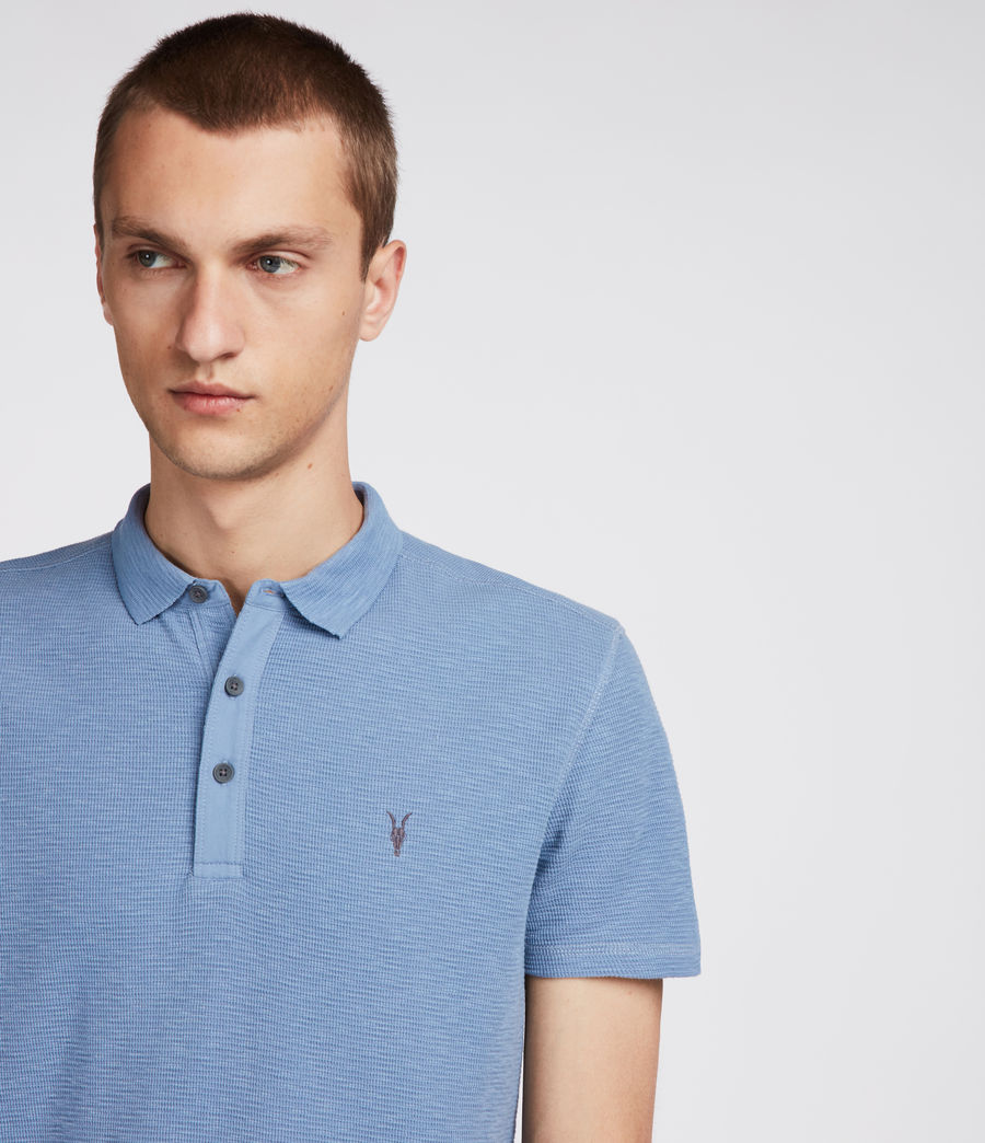 Men's Clash Polo Shirt (rain_blue) - Image 2
