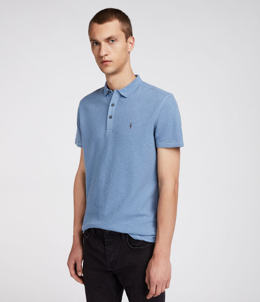 Men's Clash Polo Shirt (rain_blue) - Image 3