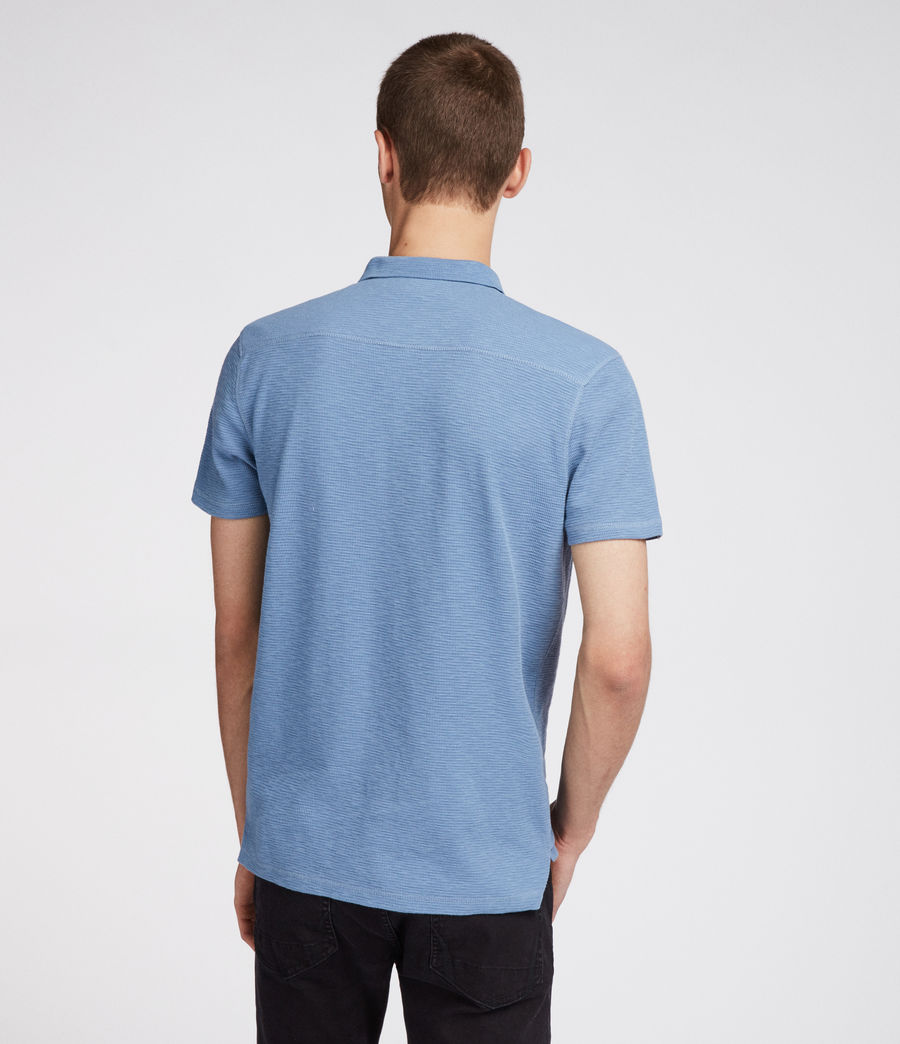 Men's Clash Polo Shirt (rain_blue) - Image 4