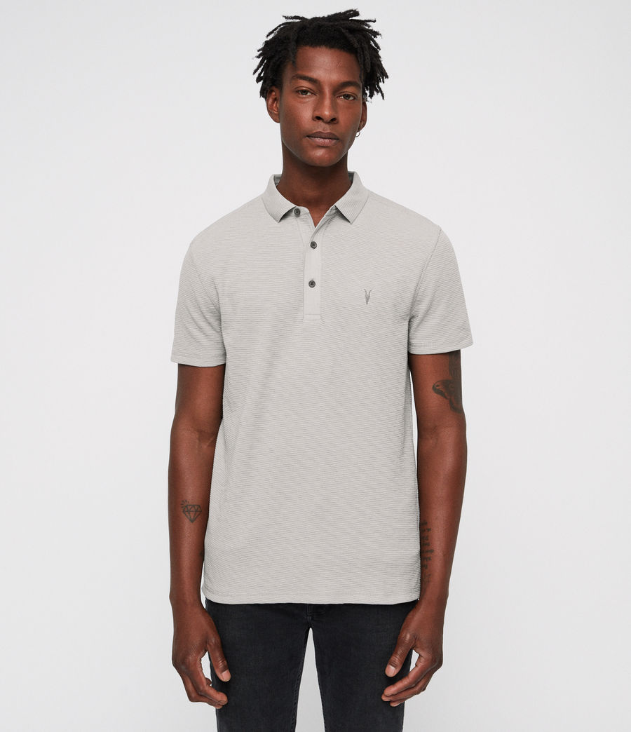 Men's Clash Polo Shirt (tin_grey) - Image 1
