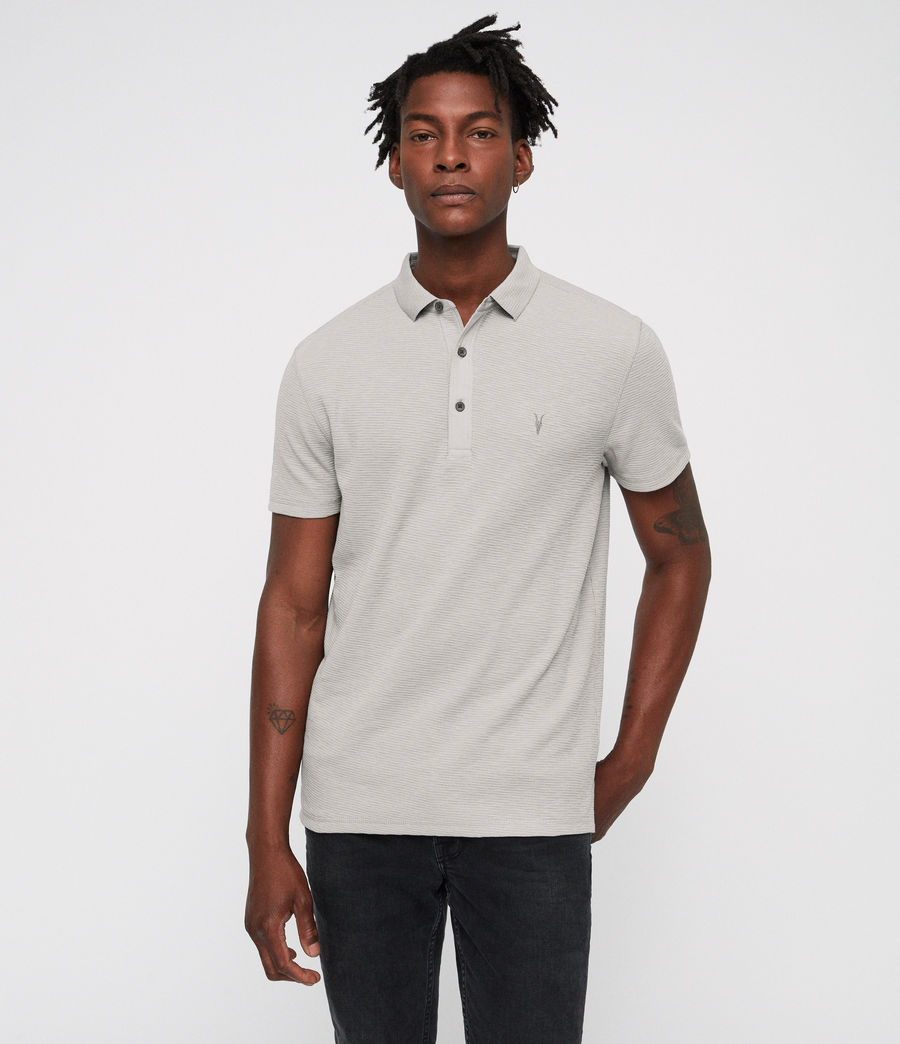 Men's Clash Polo Shirt (tin_grey) - Image 4