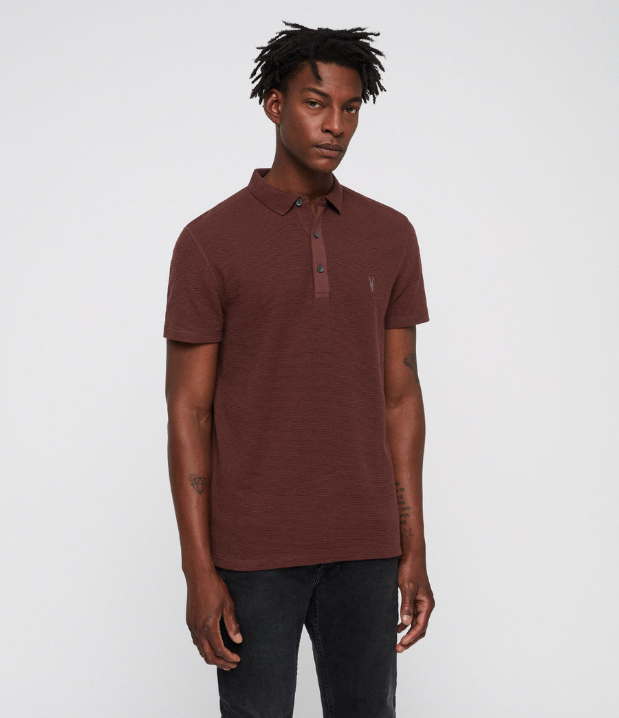 Hombres Clash Polo Shirt (rust) - Image 1