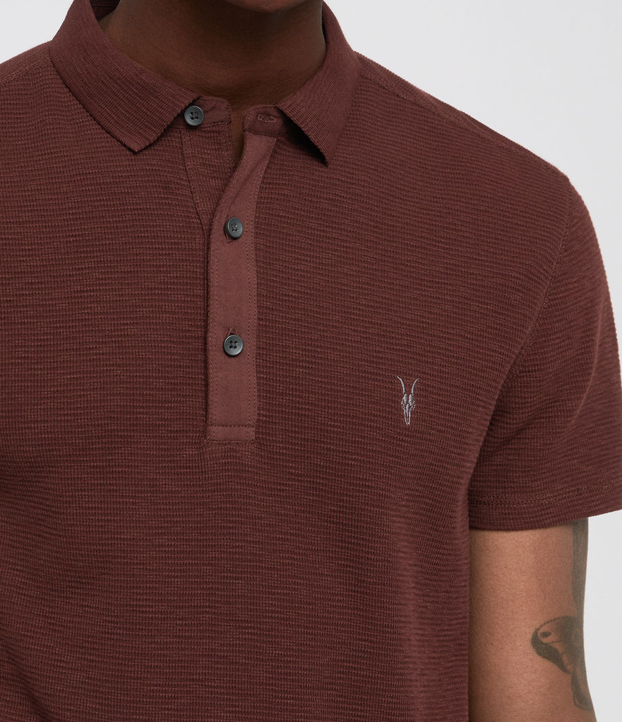 Hombres Clash Polo Shirt (rust) - Image 2