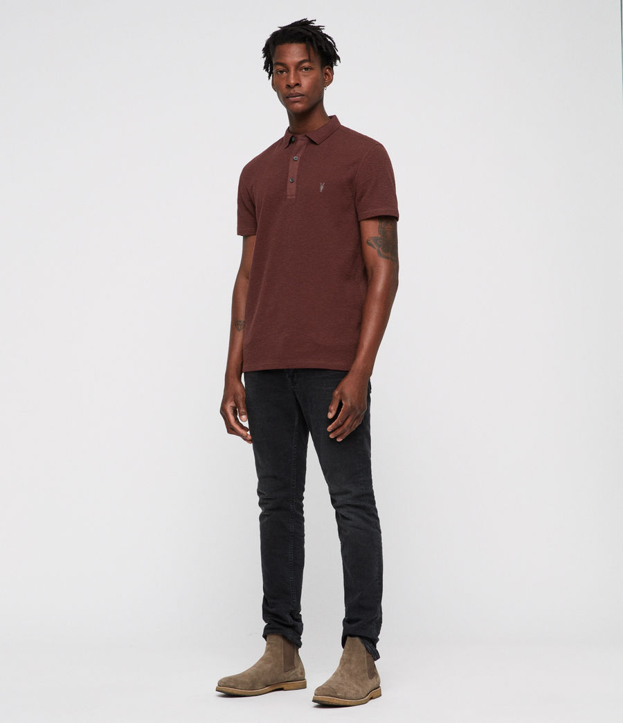 Hombres Clash Polo Shirt (rust) - Image 3