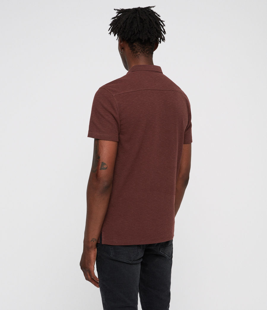 Hombres Clash Polo Shirt (rust) - Image 4