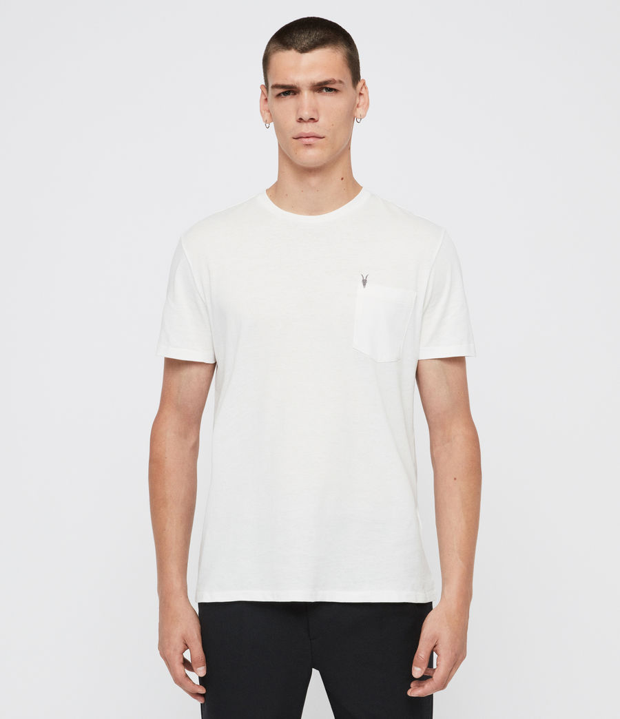 Uomo T-shirt Arch - Minimale in cotone con logo (putty_grey) - Image 1