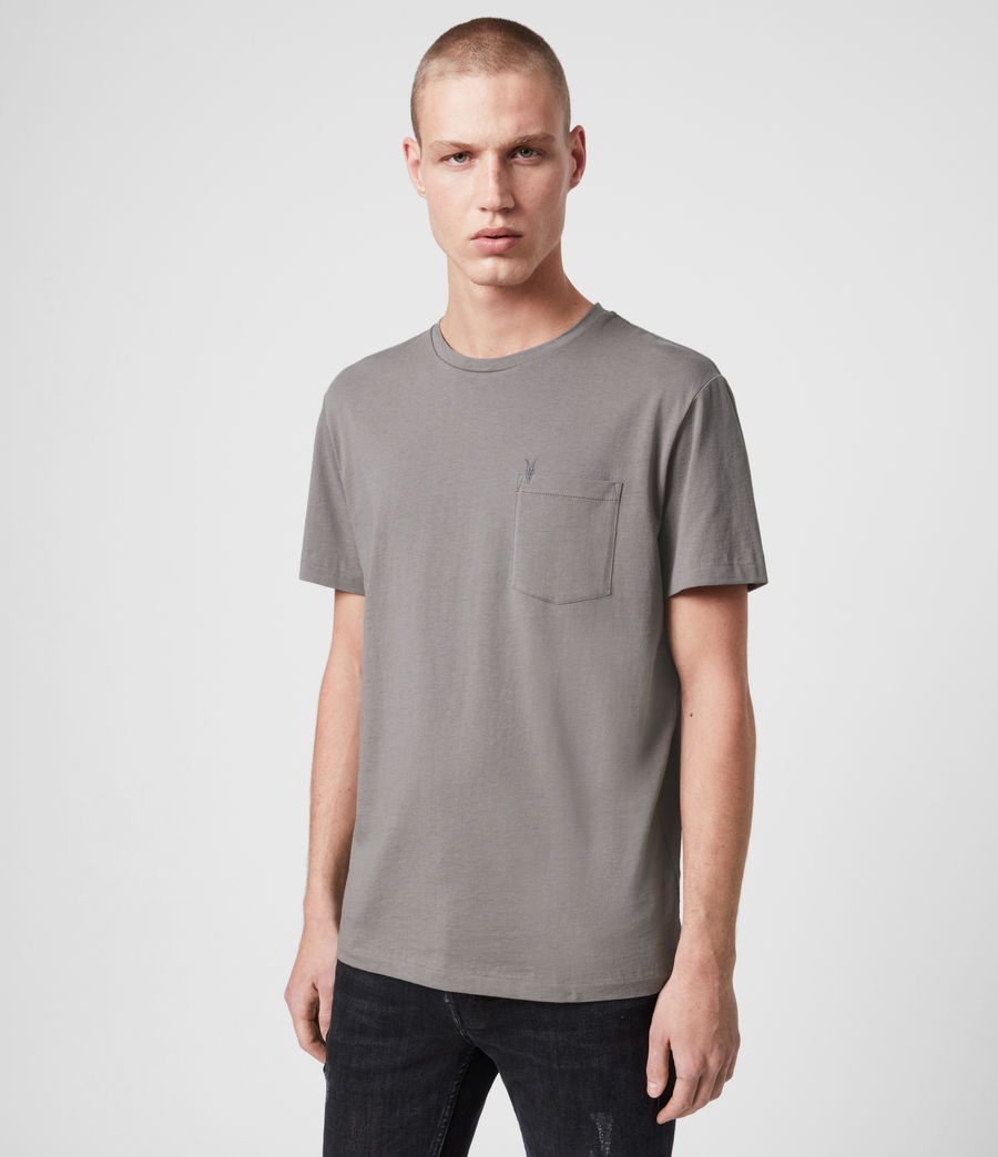 Men's Arch Crew T-Shirt (grey_marl) - Image 1