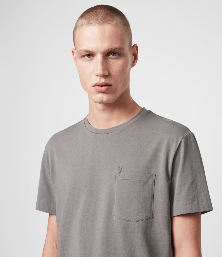 Men's Arch Crew T-Shirt (grey_marl) - Image 2